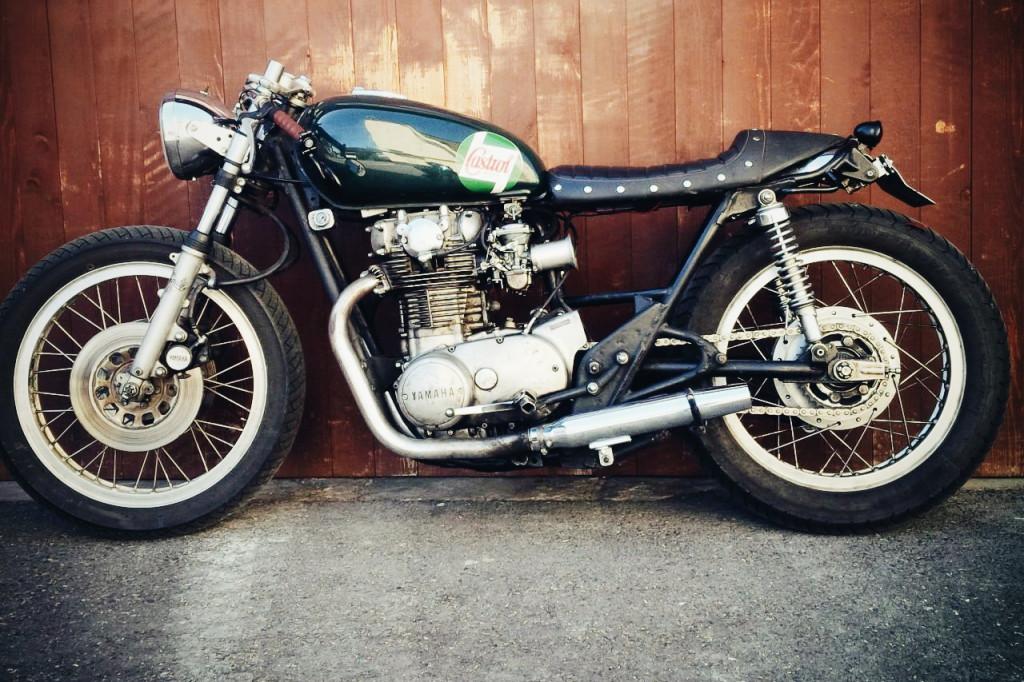 Yamaha xs650 Motorrad Umbau Custom Bike Cafe Racer
