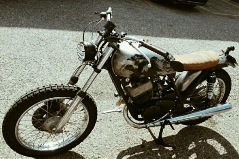 Umbau Yamaha RD250 Custombike Brat