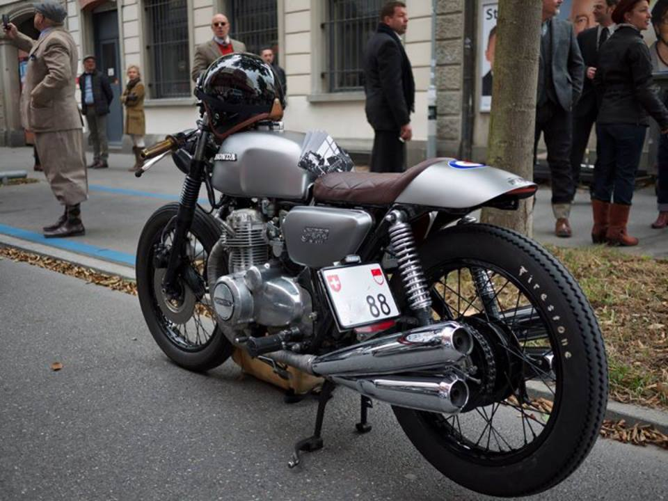Custom Honda CB Cafe Racer Gentlemen Ride Zürich