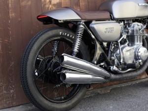 Honda CB Umbau Custombike Cafe Racer Heck